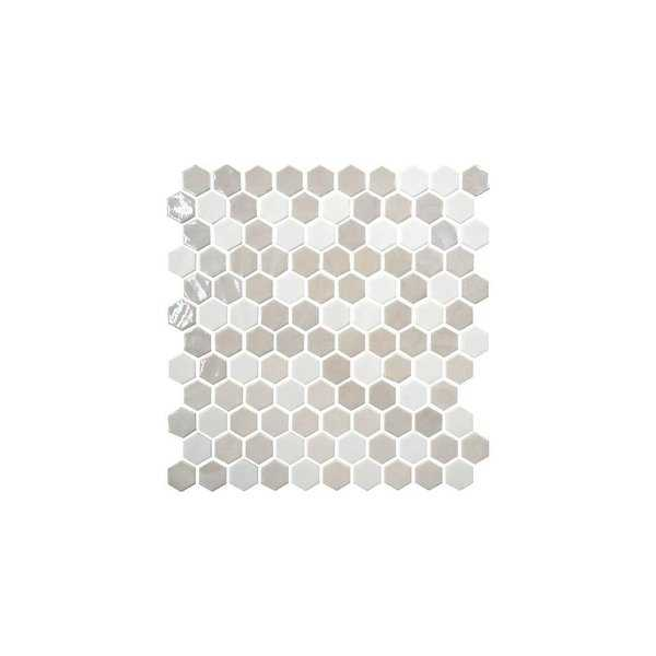 Daltile UP1HEXMSP Uptown Glass - 1' x 1' Hexagon Mosaic Wall Tile - Smooth Glass Visual