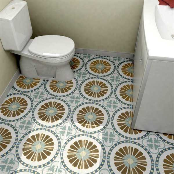SomerTile 7.75x7.75-inch Renaissance Ring Ceramic Floor and Wall Tile (25 tiles/11 sqft.)