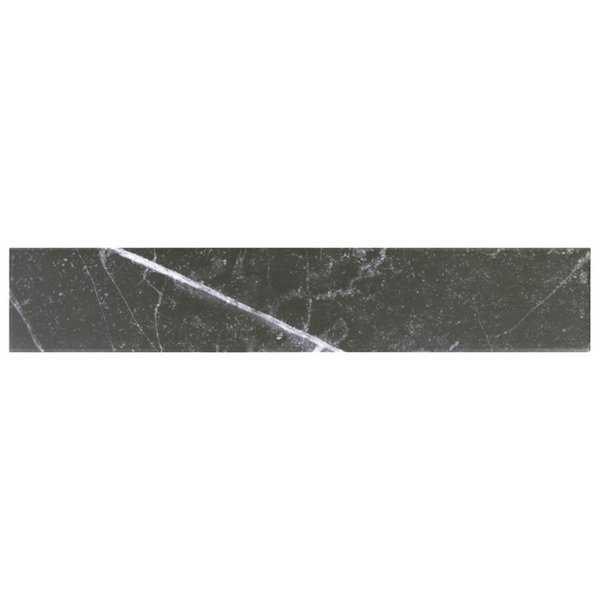 SomerTile 3.125x17.375-inch Andros Black Porcelain Floor and Wall Tile (30 tiles/12.39 sqft.)