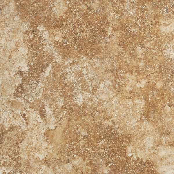 Travertine Visual Porcelain 18x18-inch Cross-Cut Field Tile in Moka - 18x18